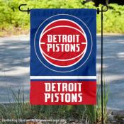 Detroit Pistons Logo Double Sided Garden Flag