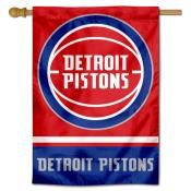 Detroit Pistons Logo Double Sided House Flag
