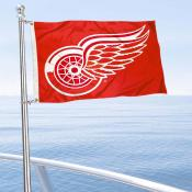 Detroit Red Wings Boat and Nautical Flag