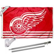 Detroit Red Wings Flag Pole and Bracket Kit