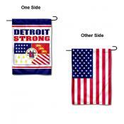 Detroit Strong USA Garden Flag