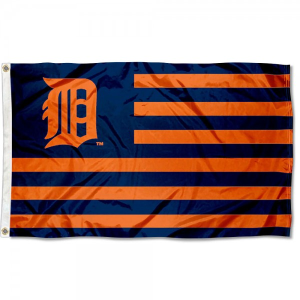 Detroit Tiger Nation Flag measures 3x5 feet, is made of polyester, offers quad-stitched flyends, has two metal grommets, and is viewable from both sides with a reverse image on the opposite side. Our Detroit Tiger Nation Flag is Genuine MLB Merchandise.