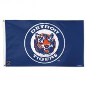 Detroit Tigers Cooperstown Logo Flag