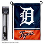 Detroit Tigers Logo Garden Flag and Stand