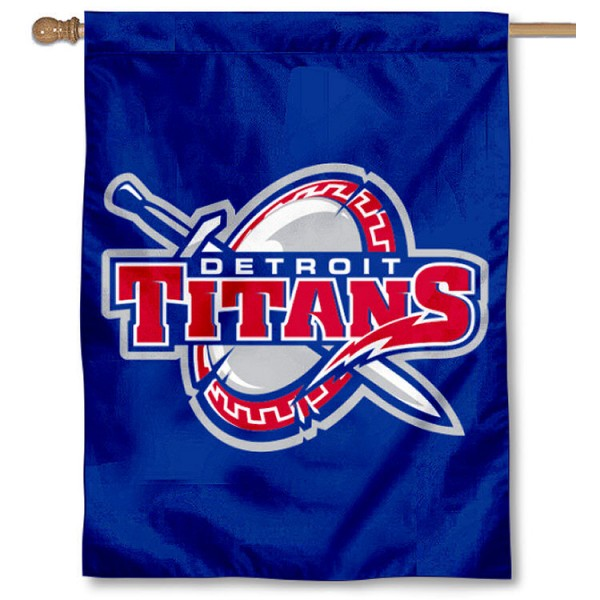 Detroit Titans House Flag is a vertical house flag which measures 30x40 inches, is made of 2 ply 100% polyester, offers dye sublimated NCAA team insignias, and has a top pole sleeve to hang vertically. Our Detroit Titans House Flag is officially licensed by the selected university and the NCAA