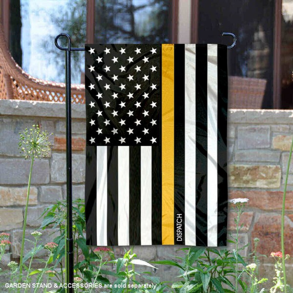 Dispatch Gold Thin Line Garden Flag is 13x18 inches in size, is made of 2-layer polyester, screen printed logos and lettering, and is viewable on both sides. Available same day shipping, our Dispatch Gold Thin Line Garden Flag is a great addition to your decorative garden flag selections.