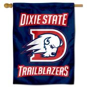 Dixie State Trailblazers Logo Double Sided House Flag