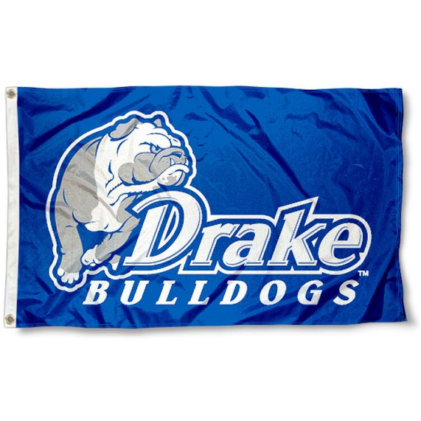 Drake University Blue 3x5 Flag measures 3'x5', is made of 100% poly, has quadruple stitched sewing, two metal grommets, and has double sided Drake University Blue logos. Our Drake University Blue 3x5 Flag is officially licensed by the selected university and the NCAA