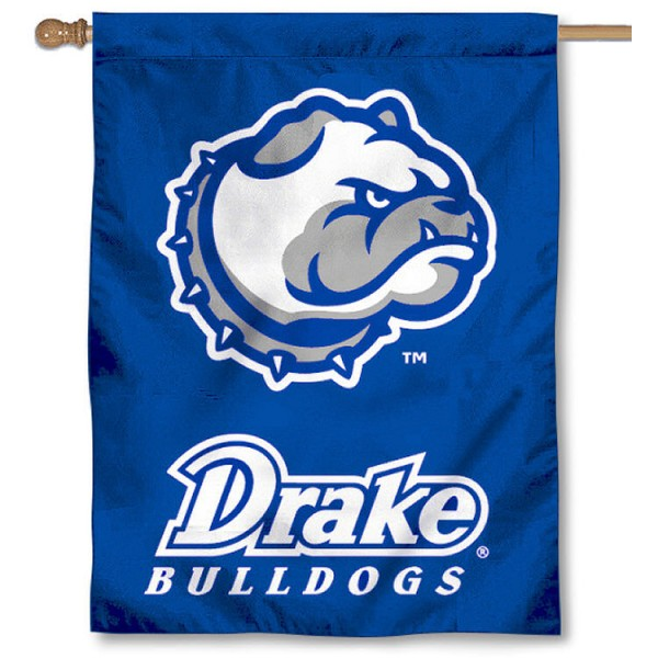 Drake University Bulldogs Logo House Flag is a vertical house flag which measures 30x40 inches, is made of 2 ply 100% polyester, offers dye sublimated NCAA team insignias, and has a top pole sleeve to hang vertically. Our Drake University Bulldogs Logo House Flag is officially licensed by the selected university and the NCAA.