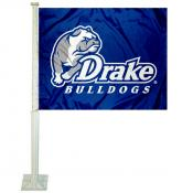 Drake University Car Window Flag