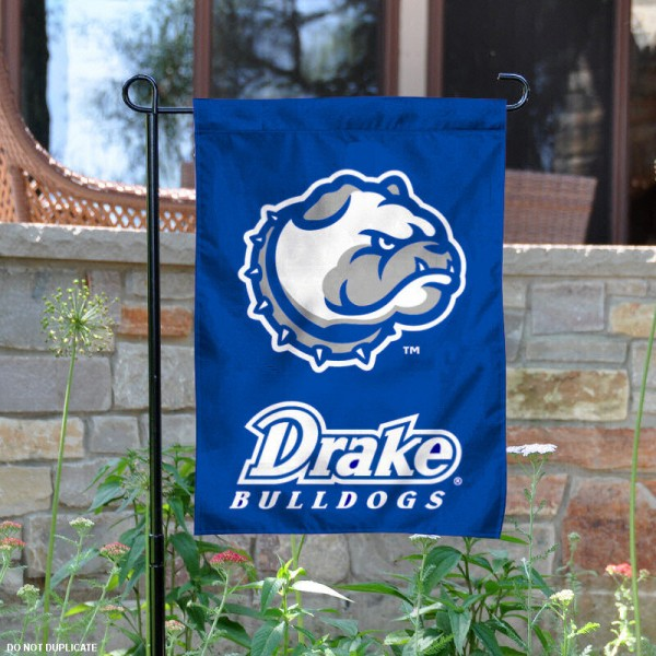 Drake University Garden Flag is 13x18 inches in size, is made of 2-layer polyester, screen printed Drake University athletic logos and lettering. Available with Same Day Express Shipping, Our Drake University Garden Flag is officially licensed and approved by Drake University and the NCAA.