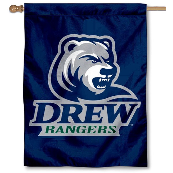 Drew Rangers Banner Flag is a vertical house flag which measures 30x40 inches, is made of 2 ply 100% polyester, offers screen printed NCAA team insignias, and has a top pole sleeve to hang vertically. Our Drew Rangers Banner Flag is officially licensed by the selected university and the NCAA.
