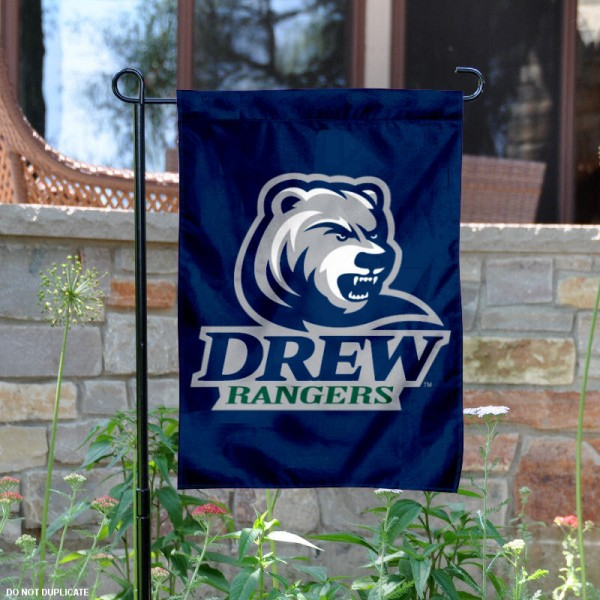 Drew Rangers Logo Garden Flag is 13x18 inches in size, is made of 2-layer polyester with liner, screen printed athletic logos and lettering. Available with Same Day Overnight Express Shipping, Our Drew Rangers Logo Garden Flag is officially licensed and approved by the university, college and the NCAA.