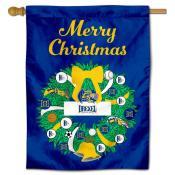 Drexel Dragons Happy Holidays Banner Flag