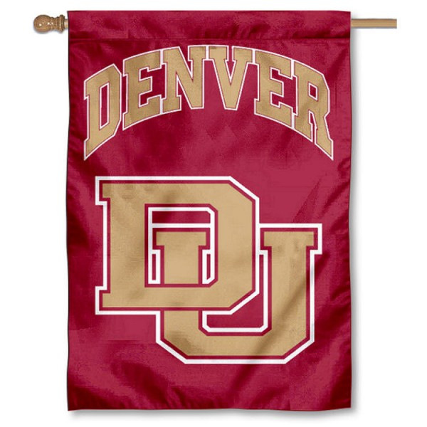 DU Denver Pioneers Double Sided Banner is a vertical house flag which measures 28x40 inches, is made of 2 ply 100% nylon, offers screen printed NCAA team insignias, and has a top pole sleeve to hang vertically. Our DU Denver Pioneers Double Sided Banner is officially licensed by the selected university and the NCAA.