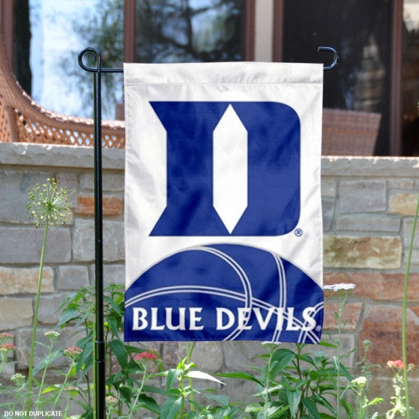 Duke Basketball Garden Flag is 13x18 inches in size, is made of 2-layer polyester, screen printed university athletic logos and lettering, and is readable and viewable correctly on both sides. Available same day shipping, our Duke Basketball Garden Flag is officially licensed and approved by the university and the NCAA.