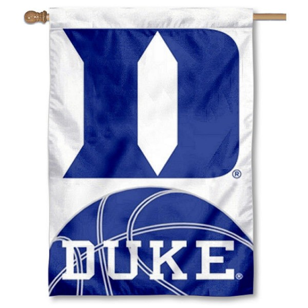 Duke Basketball House Flag is a vertical house flag which measures 30x40 inches, is made of 2 ply 100% polyester, offers screen printed NCAA team insignias, and has a top pole sleeve to hang vertically. Our Duke Basketball House Flag is officially licensed by the selected university and the NCAA.