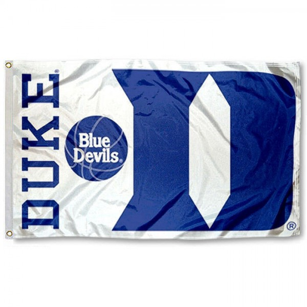 Duke University 3x5 White Flag measures 3'x5', is made of 100% polyester, offers double stitched flyends for durability, has two metal grommets, and is viewable from both sides with a reverse image on the opposite side. Our Duke University 3x5 White Flag is officially licensed by the selected school university and the NCAA