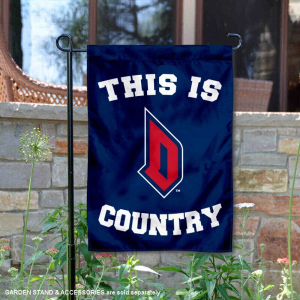 Duquesne Dukes Country Garden Flag is 13x18 inches in size, is made of 2-layer polyester, screen printed university athletic logos and lettering, and is readable and viewable correctly on both sides. Available same day shipping, our Duquesne Dukes Country Garden Flag is officially licensed and approved by the university and the NCAA.