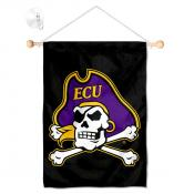 East Carolina Pirates Banner with Suction Cup