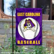 East Carolina Pirates Baseball Team Garden Flag