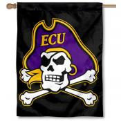 East Carolina Pirates Double Sided House Flag