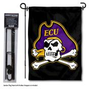 East Carolina Pirates Garden Flag and Pole Stand Mount