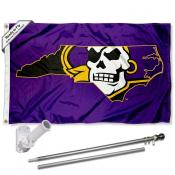 East Carolina Pirates State Flag Pole and Bracket Kit