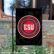 East Stroudsburg Warriors Wordmark Logo Garden Flag