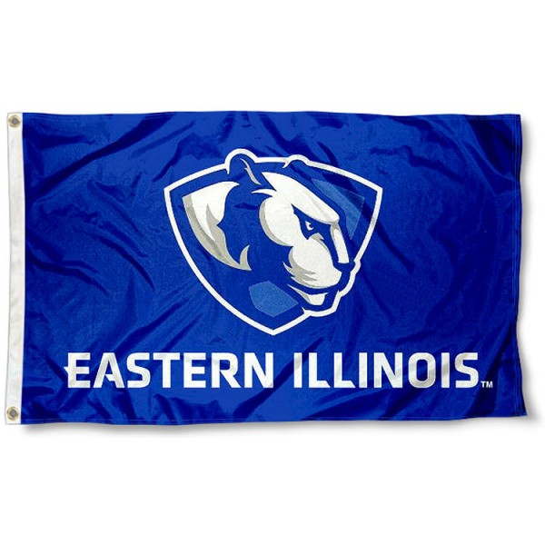 Eastern Illinois Panthers New Logo Flag measures 3x5 feet, is made of 100% polyester, offers quadruple stitched flyends, has two metal grommets, and offers screen printed NCAA team logos and insignias. Our Eastern Illinois Panthers New Logo Flag is officially licensed by the selected university and NCAA.