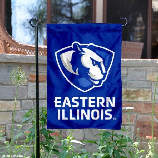 Eastern Illinois Panthers New Logo Garden Flag is 13x18 inches in size, is made of 2-layer polyester, screen printed Eastern Illinois Panthers athletic logos and lettering. Available with Same Day Express Shipping, Our Eastern Illinois Panthers New Logo Garden Flag is officially licensed and approved by Eastern Illinois Panthers and the NCAA.