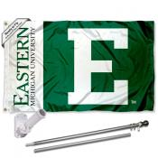 Eastern Michigan Eagles Flag Pole and Bracket Kit