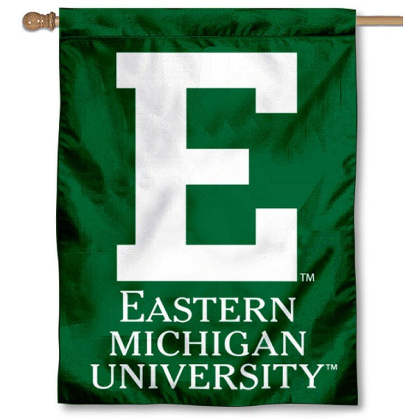 Eastern Michigan Eagles House Flag is a vertical house flag which measures 30x40 inches, is made of 2 ply 100% polyester, offers dye sublimated NCAA team insignias, and has a top pole sleeve to hang vertically. Our Eastern Michigan Eagles House Flag is officially licensed by the selected university and the NCAA.