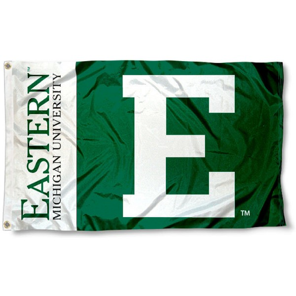 Eastern Michigan University Eagles 3x5 Flag measures 3'x5', is made of 100% poly, has quadruple stitched sewing, two metal grommets, and has double sided Team University logos. Our EMU Eagles 3x5 Flag is officially licensed by the selected university and the NCAA.