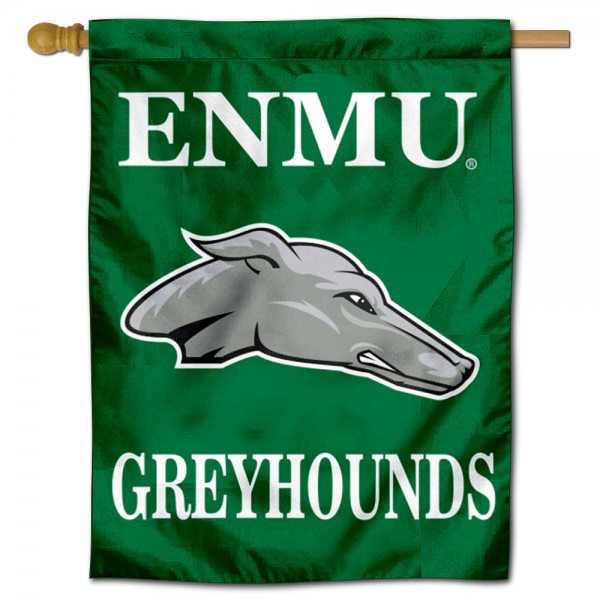 Eastern New Mexico Greyhounds Double Sided House Flag is a vertical house flag which measures 30x40 inches, is made of 2 ply 100% polyester, offers screen printed NCAA team insignias, and has a top pole sleeve to hang vertically. Our Eastern New Mexico Greyhounds Double Sided House Flag is officially licensed by the selected university and the NCAA.