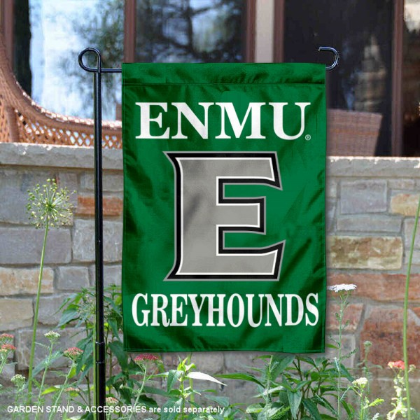Eastern New Mexico Greyhounds Flag is 13x18 inches in size, is made of 2-layer polyester, screen printed university athletic logos and lettering, and is readable and viewable correctly on both sides. Available same day shipping, our Eastern New Mexico Greyhounds Flag is officially licensed and approved by the university and the NCAA.