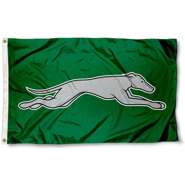 Eastern New Mexico Greyhounds Flag measures 3x5 feet, is made of 100% polyester, offers quadruple stitched flyends, has two metal grommets, and offers screen printed NCAA team logos and insignias. Our Eastern New Mexico Greyhounds Flag is officially licensed by the selected university and NCAA.