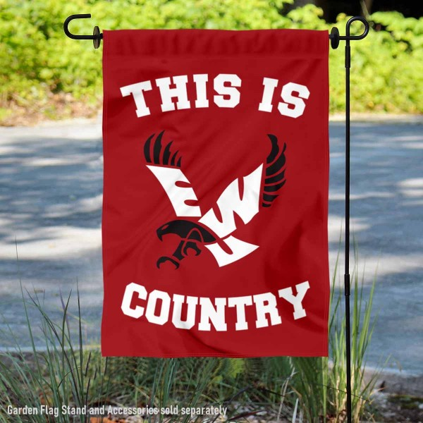 Eastern Washington Eagles Country Garden Flag is 13x18 inches in size, is made of 2-layer polyester, screen printed university athletic logos and lettering, and is readable and viewable correctly on both sides. Available same day shipping, our Eastern Washington Eagles Country Garden Flag is officially licensed and approved by the university and the NCAA.