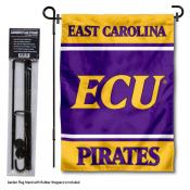 ECU Pirates Garden Flag and Pole Stand Holder
