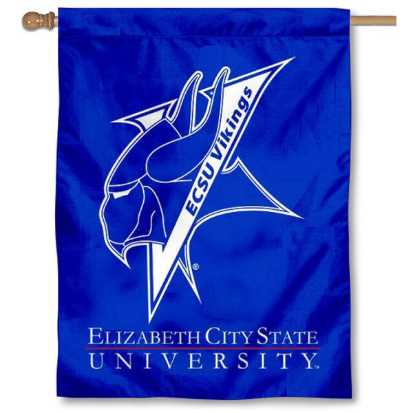 Elizabeth City State ECSU Vikings Banner Flag is a vertical house flag which measures 30x40 inches, is made of 2 ply 100% polyester, offers dye sublimated NCAA team insignias, and has a top pole sleeve to hang vertically. Our Elizabeth City State ECSU Vikings Banner Flag is officially licensed by the selected university and the NCAA.