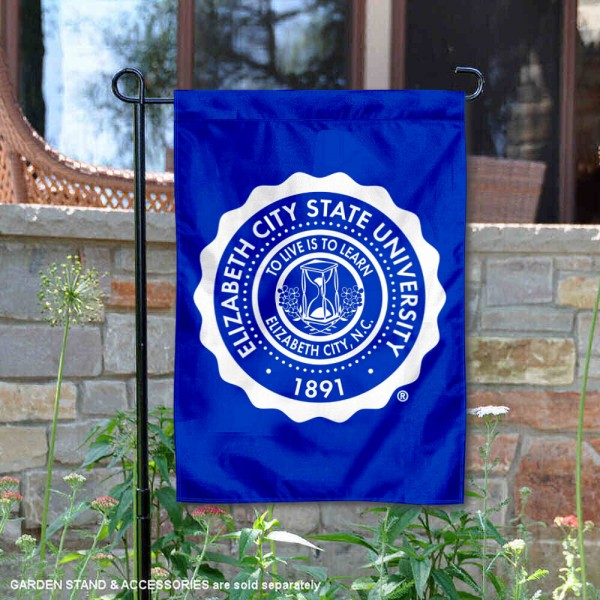 Elizabeth City State University Academic Logo Garden Flag is 13x18 inches in size, is made of 2-layer polyester, screen printed university athletic logos and lettering, and is readable and viewable correctly on both sides. Available same day shipping, our Elizabeth City State University Academic Logo Garden Flag is officially licensed and approved by the university and the NCAA.