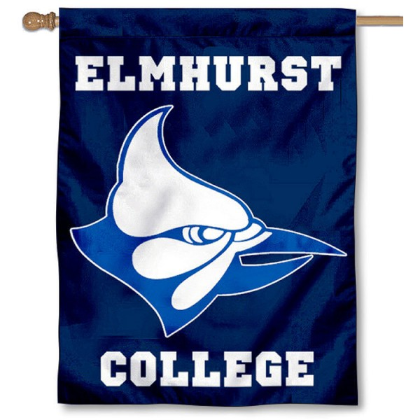 Elmhurst Bluejays House Flag is a vertical house flag which measures 30x40 inches, is made of 2 ply 100% polyester, offers dye sublimated NCAA team insignias, and has a top pole sleeve to hang vertically. Our Elmhurst Bluejays House Flag is officially licensed by the selected university and the NCAA.