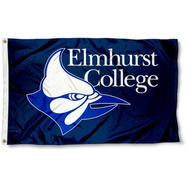 Elmhurst College Flag measures 3'x5', is made of 100% poly, has quadruple stitched sewing, two metal grommets, and has double sided Elmhurst College logos. Our Elmhurst College Flag is officially licensed by the selected university and the NCAA.