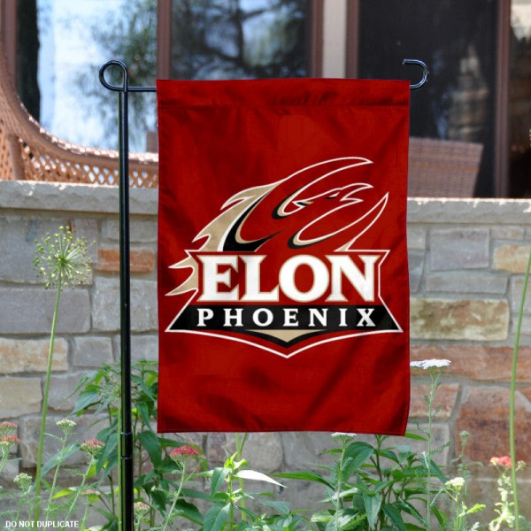 Elon Phoenix Garden Flag is 13x18 inches in size, is made of 2-layer polyester, screen printed logos and lettering. Available with Same Day Express Shipping, Our Elon Phoenix Garden Flag is officially licensed and approved by Phoenix and the NCAA.