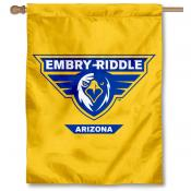 Embry Riddle Eagles Yellow House Flag