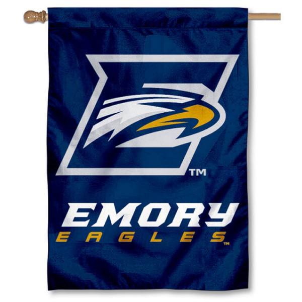 Emory Eagles House Flag is a vertical house flag which measures 28x40 inches, is made of 2 ply 100% nylon, offers dye sublimated NCAA team insignias, and has a top pole sleeve to hang vertically. Our Emory Eagles House Flag is officially licensed by the selected university and the NCAA