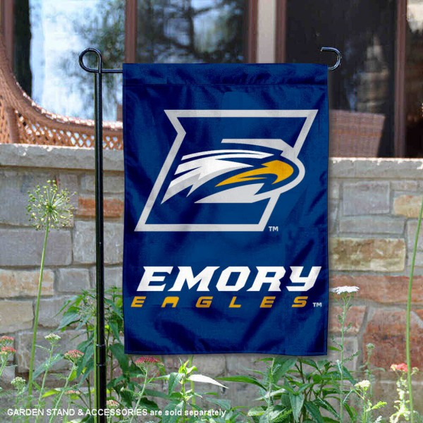 Emory University Garden Flag is 13x18 inches in size, is made of 2-layer polyester, screen printed Emory University athletic logos and lettering. Available with Same Day Express Shipping, Our Emory University Garden Flag is officially licensed and approved by Emory University and the NCAA.