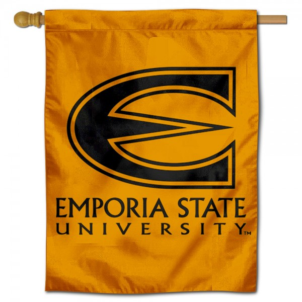 Emporia State Hornets Double Sided House Flag is a vertical house flag which measures 30x40 inches, is made of 2 ply 100% polyester, offers screen printed NCAA team insignias, and has a top pole sleeve to hang vertically. Our Emporia State Hornets Double Sided House Flag is officially licensed by the selected university and the NCAA.