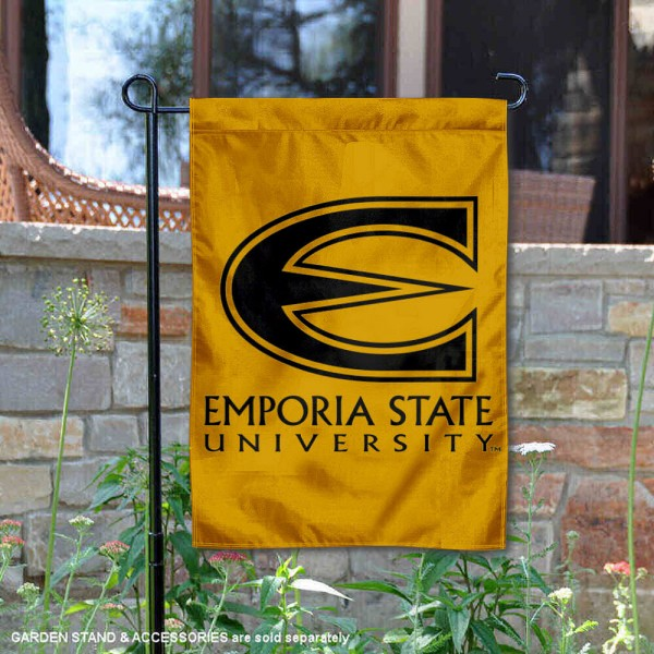 Emporia State Hornets Garden Flag is 13x18 inches in size, is made of 2-layer polyester, screen printed Emporia State Hornets athletic logos and lettering. Available with Same Day Express Shipping, Our Emporia State Hornets Garden Flag is officially licensed and approved by Emporia State Hornets and the NCAA.