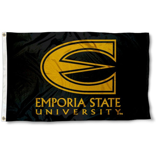 Emporia State University Hornets Flag measures 3'x5', is made of 100% poly, has quadruple stitched sewing, two metal grommets, and has double sided Team University logos. Our Emporia State University Hornets Flag is officially licensed by the selected university and the NCAA.